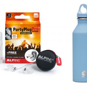 Festivalpakket met Alpine Partyplugs een Mizu M8 waterfles