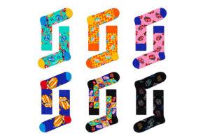 Happy Socks x Rolling Stones 6-pack giftbox